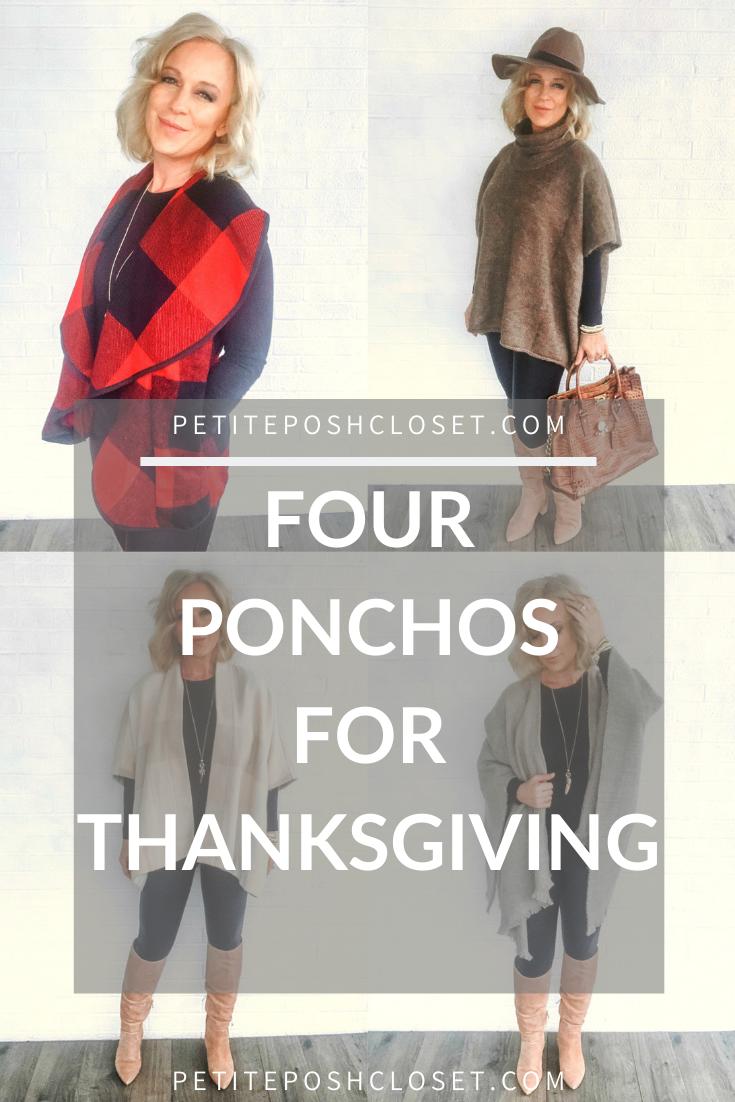 Four Ponchos for Thanksgiving